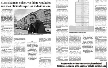 Entrevista revista Auzolan rehabilitación y eficiencia energética